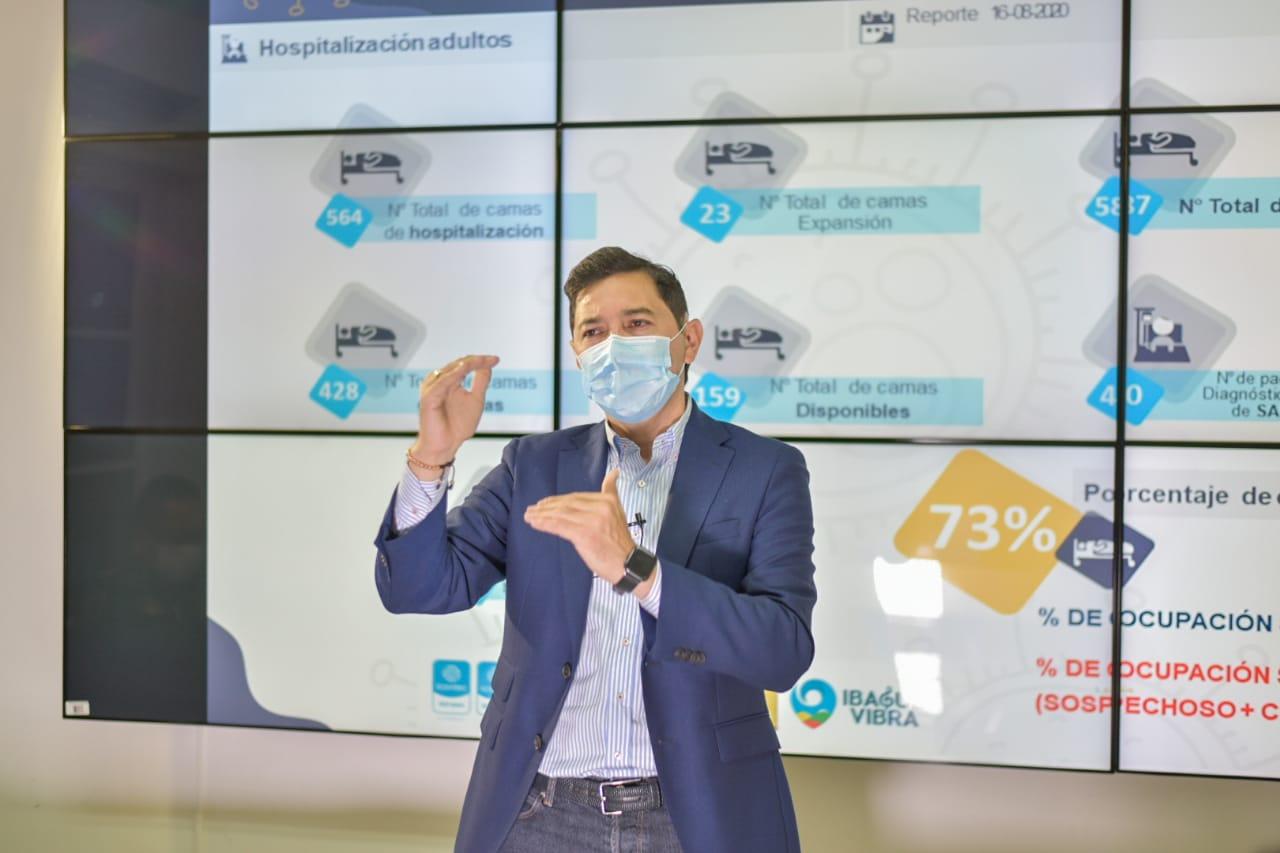 """""""Plan 5x2 permitió disminuir la velocidad de contagios de Covid"""", dice el Alcalde de Ibagué"""