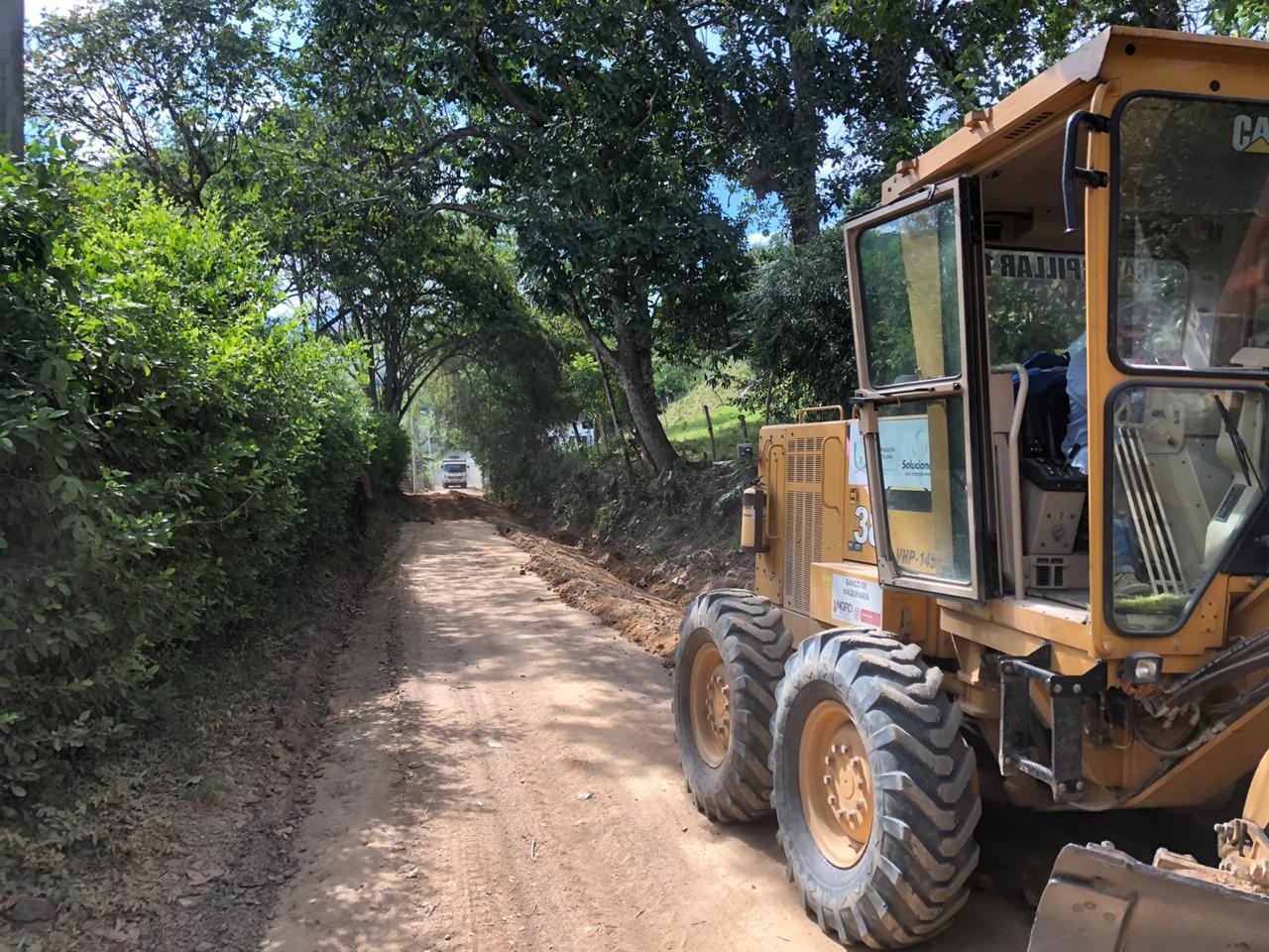 Mejoraron ocho kilómetros de vía en el sector de El Totumo