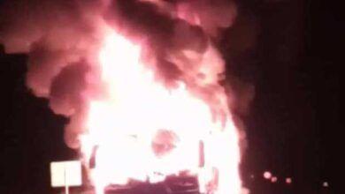 Photo of Se quemó bus en la madrugada de este miércoles en la vía Manizales – Medellín