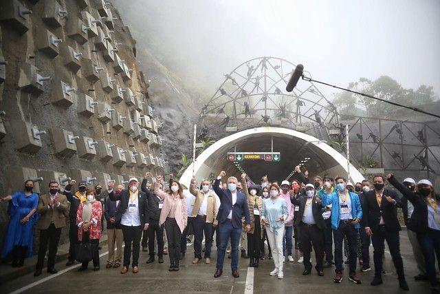En fotos: ¡Viva Colombia! Así fue la inauguración del Túnel de La Línea