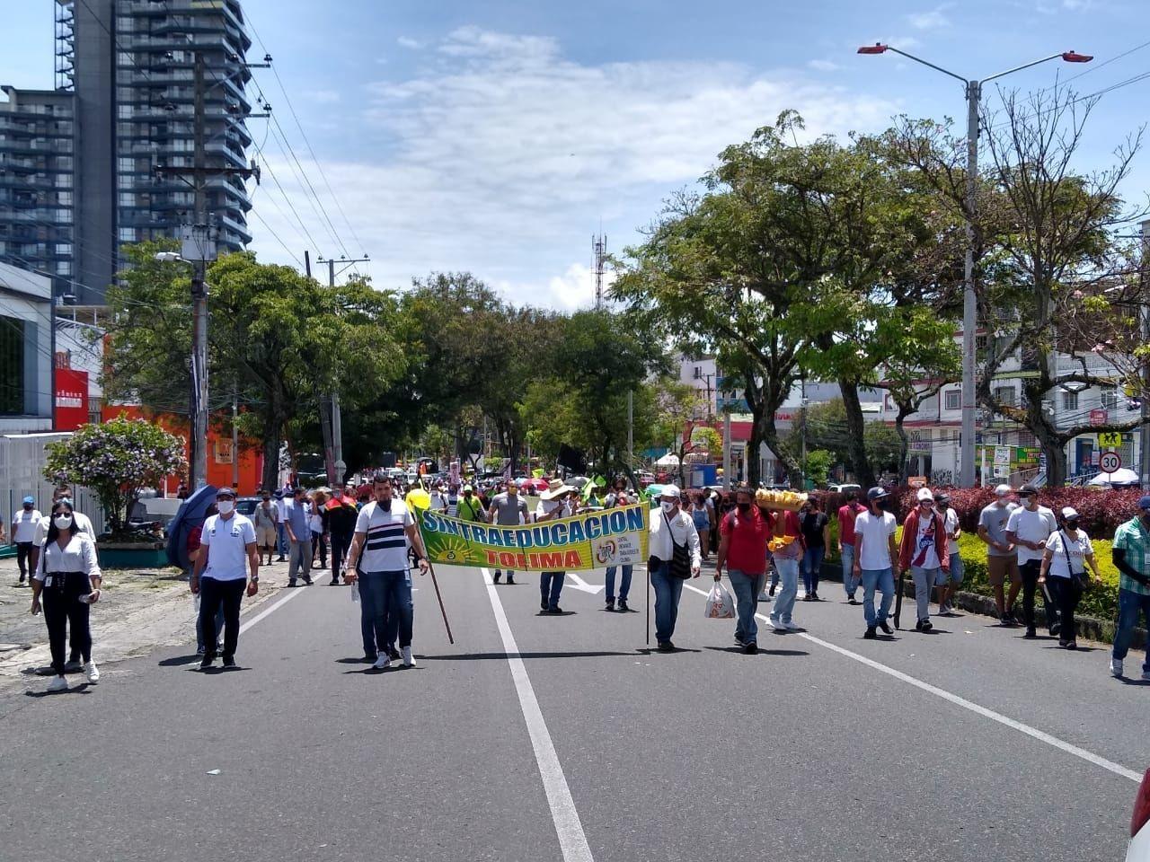 Con normalidad transcurrieron las manifestaciones del '21S' en el Tolima