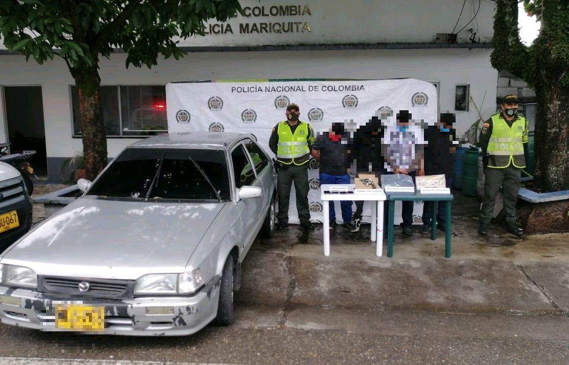 Capturados cuatro 'paisas' armados en vía del norte del Tolima