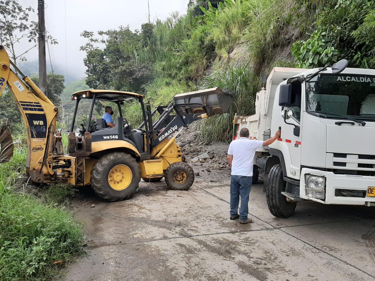 Habilitada la vía en el sector de La Vega