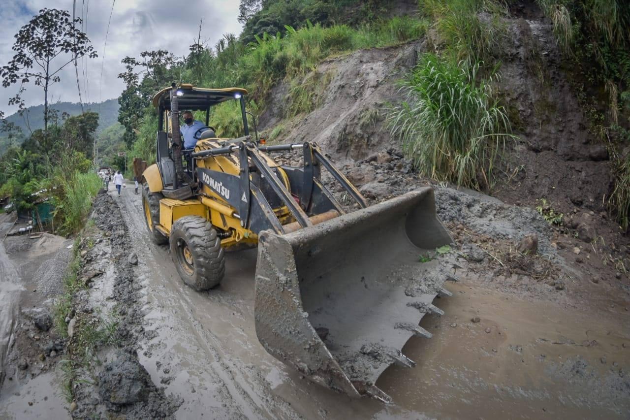 Adelantan labores de mitigación en el sector de La Vega