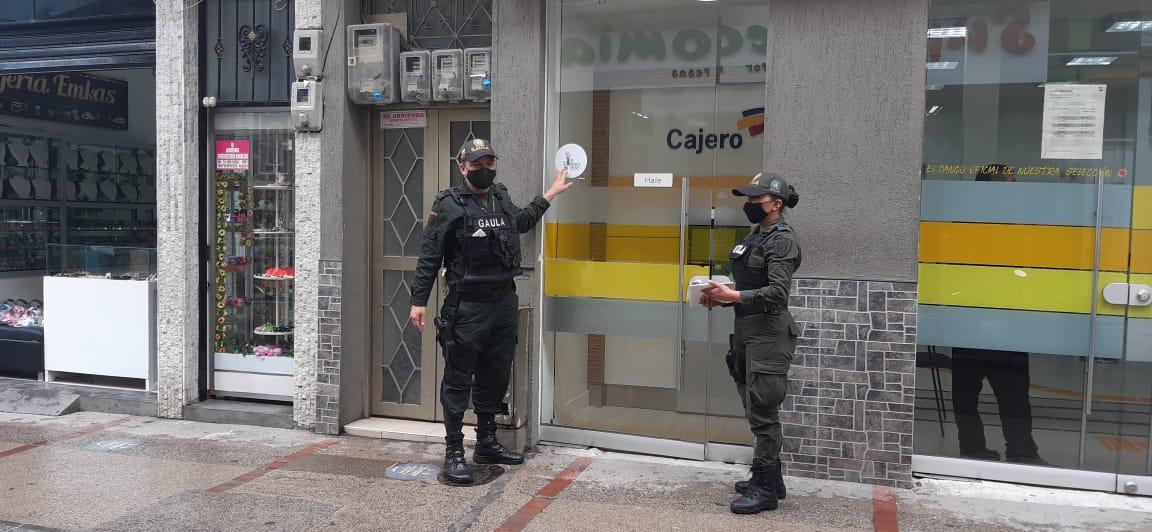 Gaula de la Policía realizó campaña en bancos de distintos municipios del Tolima