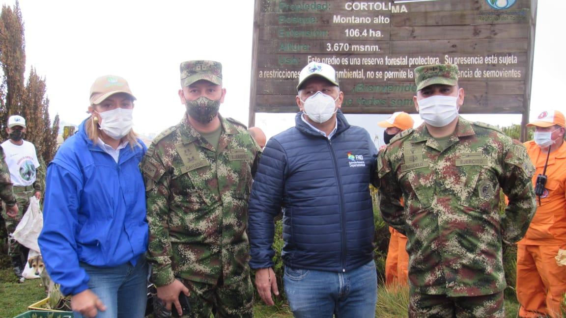 En Murillo sembraron 8.000 frailejones para la preservación del Volcán Nevado del Ruiz