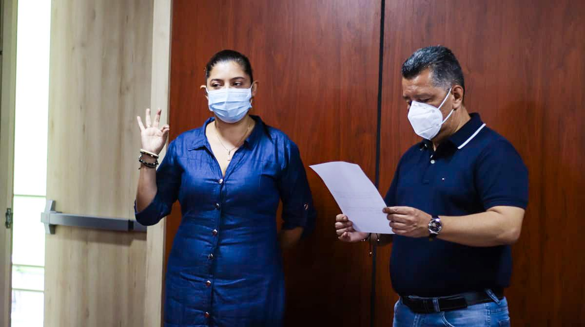Ingeniera Paola Muñoz asumió como la nueva secretaria de Infraestructura Departamental