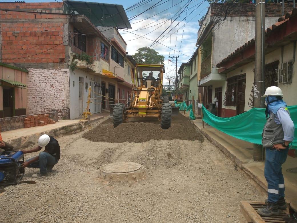 Obras de pavimentación en el barrio Santander Estadio alcanzan un 90 % de ejecución