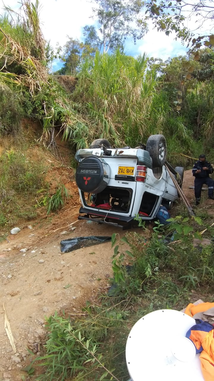 Conductor de personal de antenas falleció en accidente en La Martinica