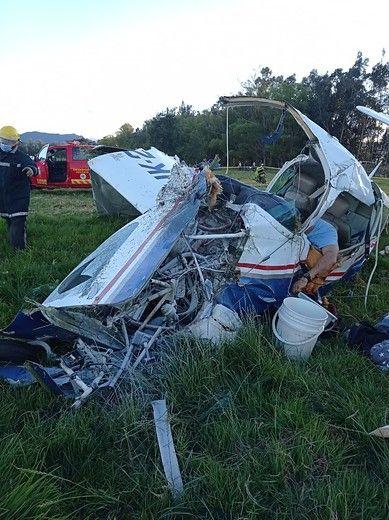 Bebé se salvó en accidente de avioneta que dejó tres muertos