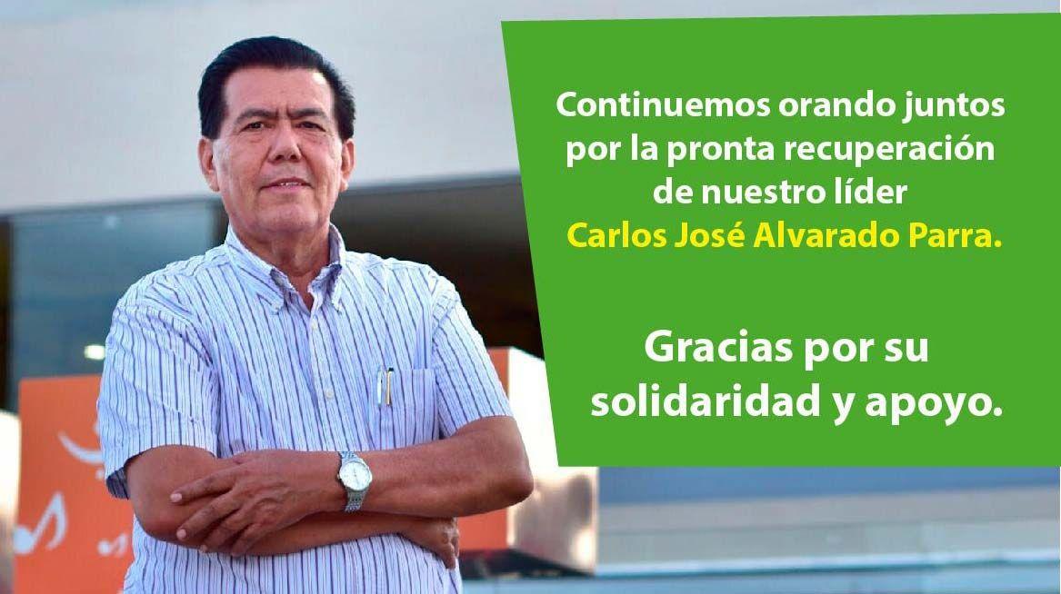 Continúan las cadenas de oración por la salud y recuperación de Carlos Alvarado