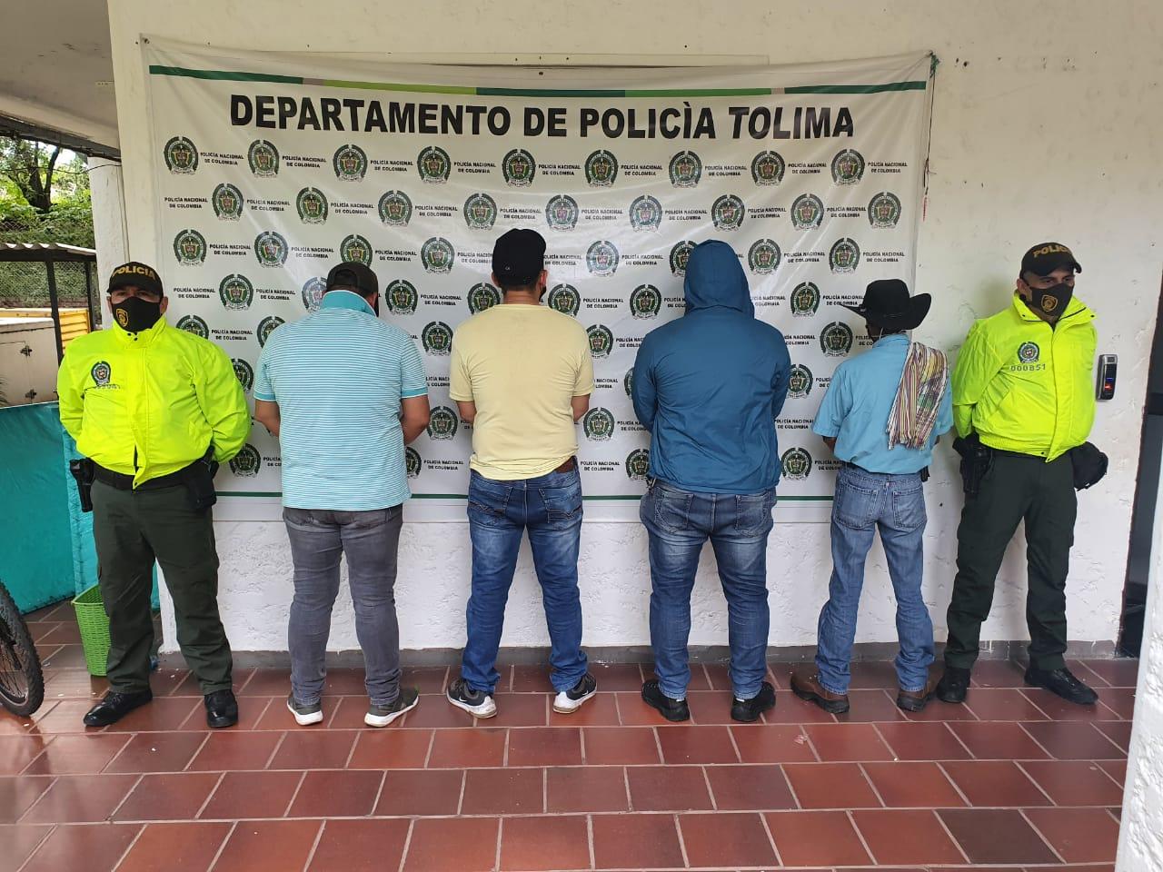 Asegurados 'Los Lecheros' por el hurto de 19 cabezas de ganado en Venadillo