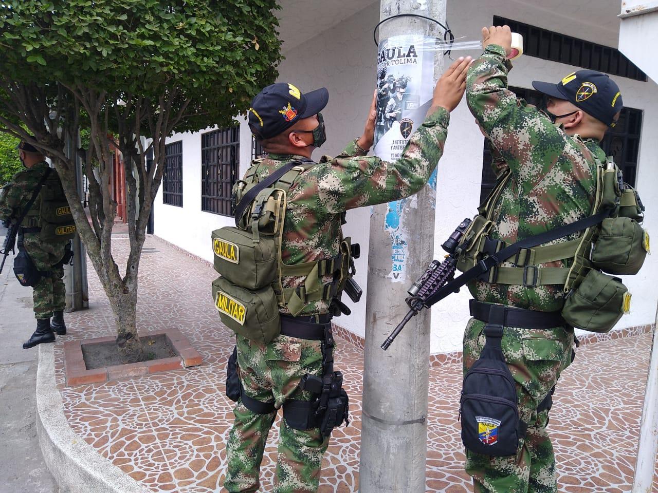 Campaña contra el secuestro y la extorsión en Espinal