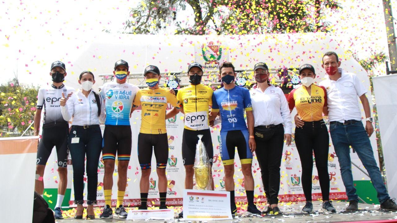 Aldemar Reyes y Yenifer Ducuara, los campeones de la Vuelta al Tolima 2020