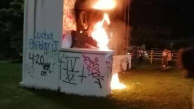 Photo of Investigarán vandalismo en monumento de Andrés López de Galarza