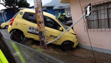 Photo of Taxista salió ileso de choque contra una fachada