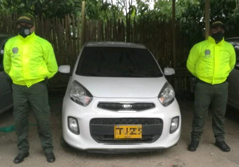 Policía recuperó en Rovira un automóvil robado en el Cesar
