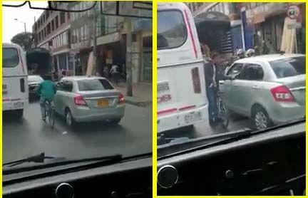 #EnVideo: Nueva modalidad de atraco en los trancones