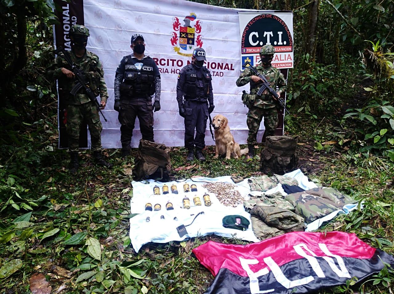 Hallaron 11 minas antipersonales y más de 900 cartuchos en caleta del ELN en el norte del Tolima
