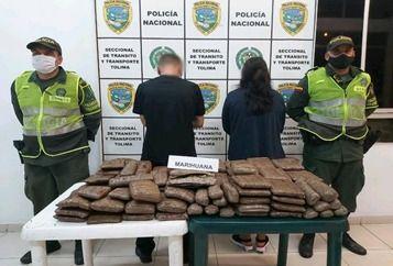 Judicializados por llevar más de 40 kilos de marihuana en llanta de repuesto
