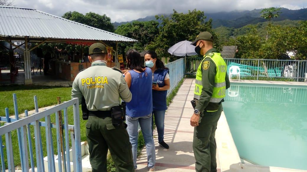 Policía y Secresalud realizaron inspección en piscinas de El Totumo y Chucuní