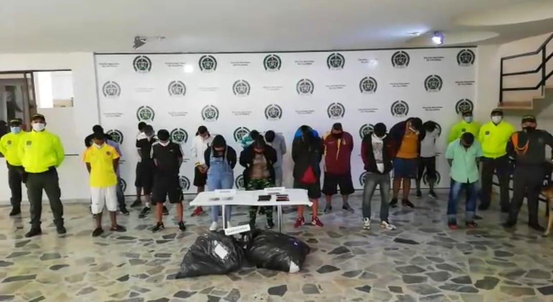 21 personas fueron capturados por tráfico de estupefacientes en Ibagué