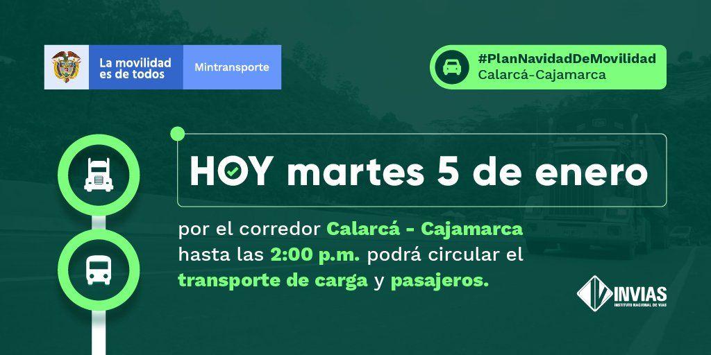 Habilitan a un carril el paso por el kilómetro 39 entre Cajamarca y Calarcá