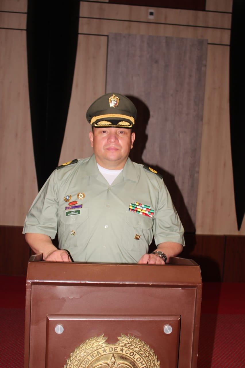 Ya ejerce el nuevo comandante de la Policía Metropolitana de Ibagué