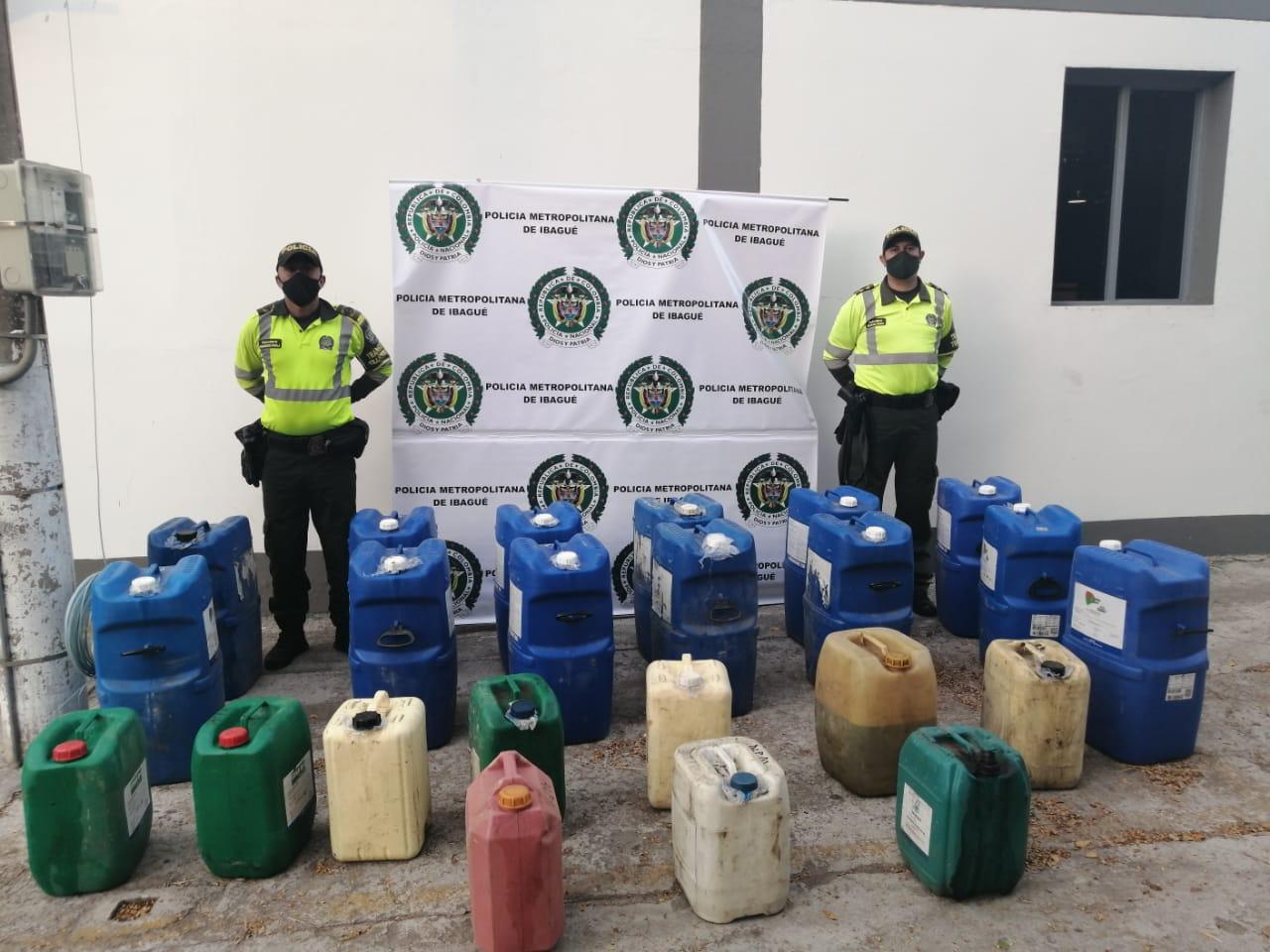 Policía Metropolitana se incautó de 300 galones de combustible