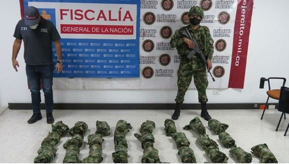 CTI y Ejército se incautaron de material de intendencia y de guerra en el sur del Tolima