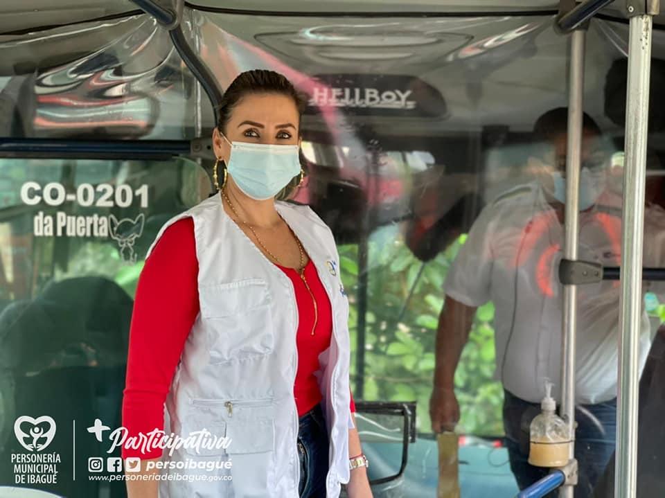 Personería comprobó incumplimiento de protocolos de bioseguridad en busetas de Ibagué