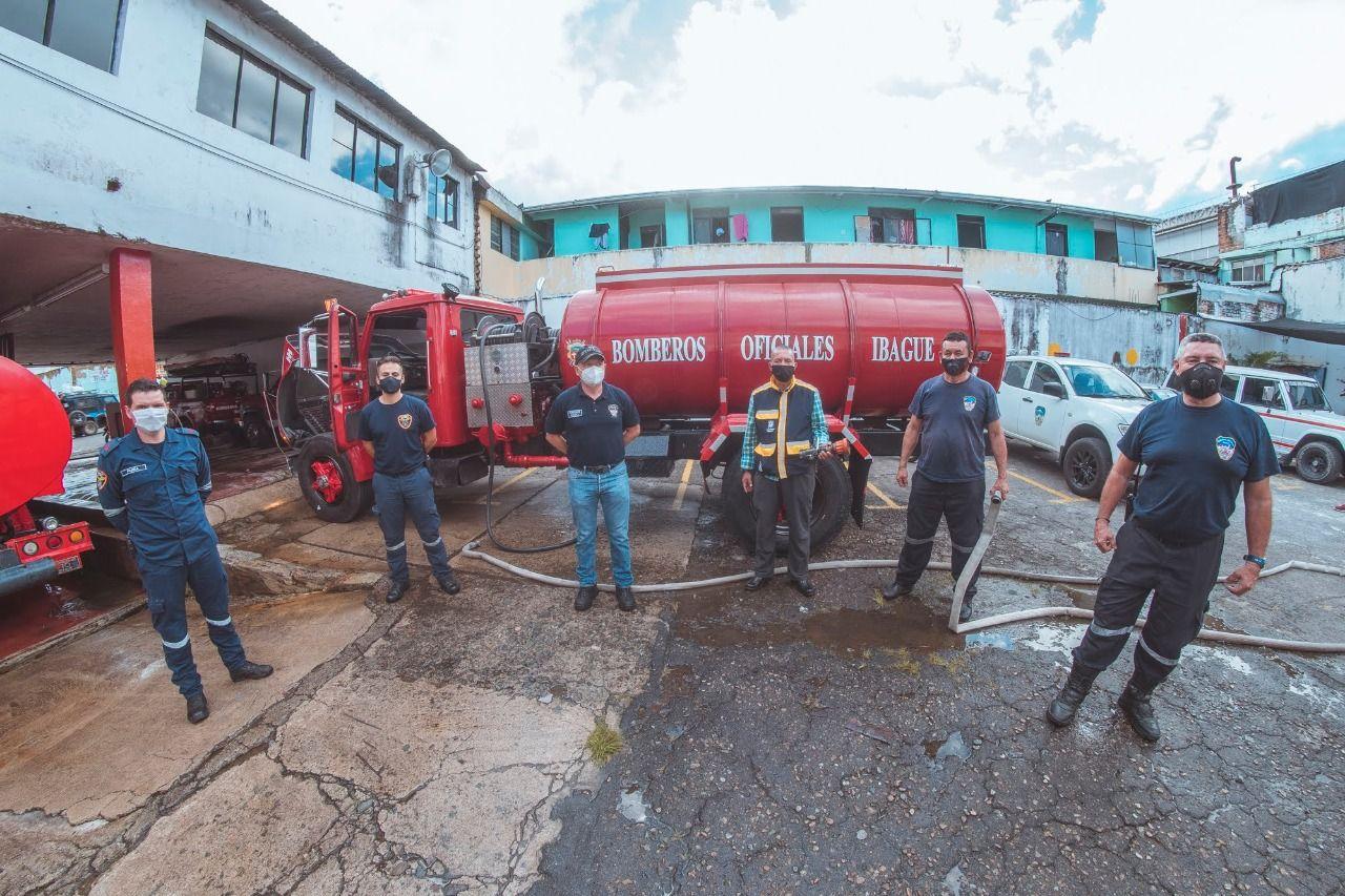 Cuerpo Oficial de Bomberos de Ibagué recibirá dotación para la atención de emergencias