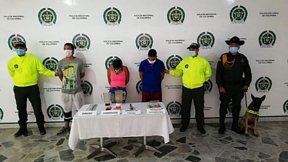 Judicializados por tráfico de estupefacientes en el barrio La Cima