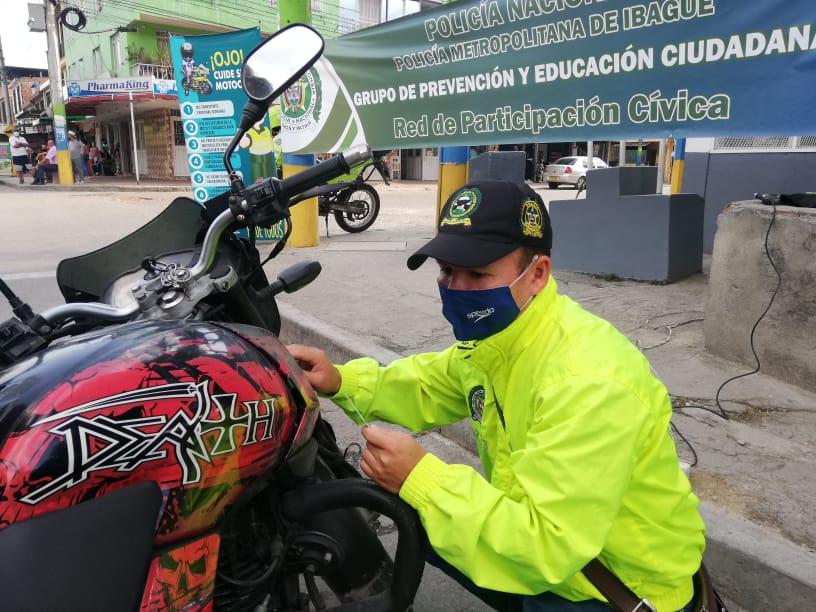 Avanza la campaña contra el hurto de motos en Ibagué
