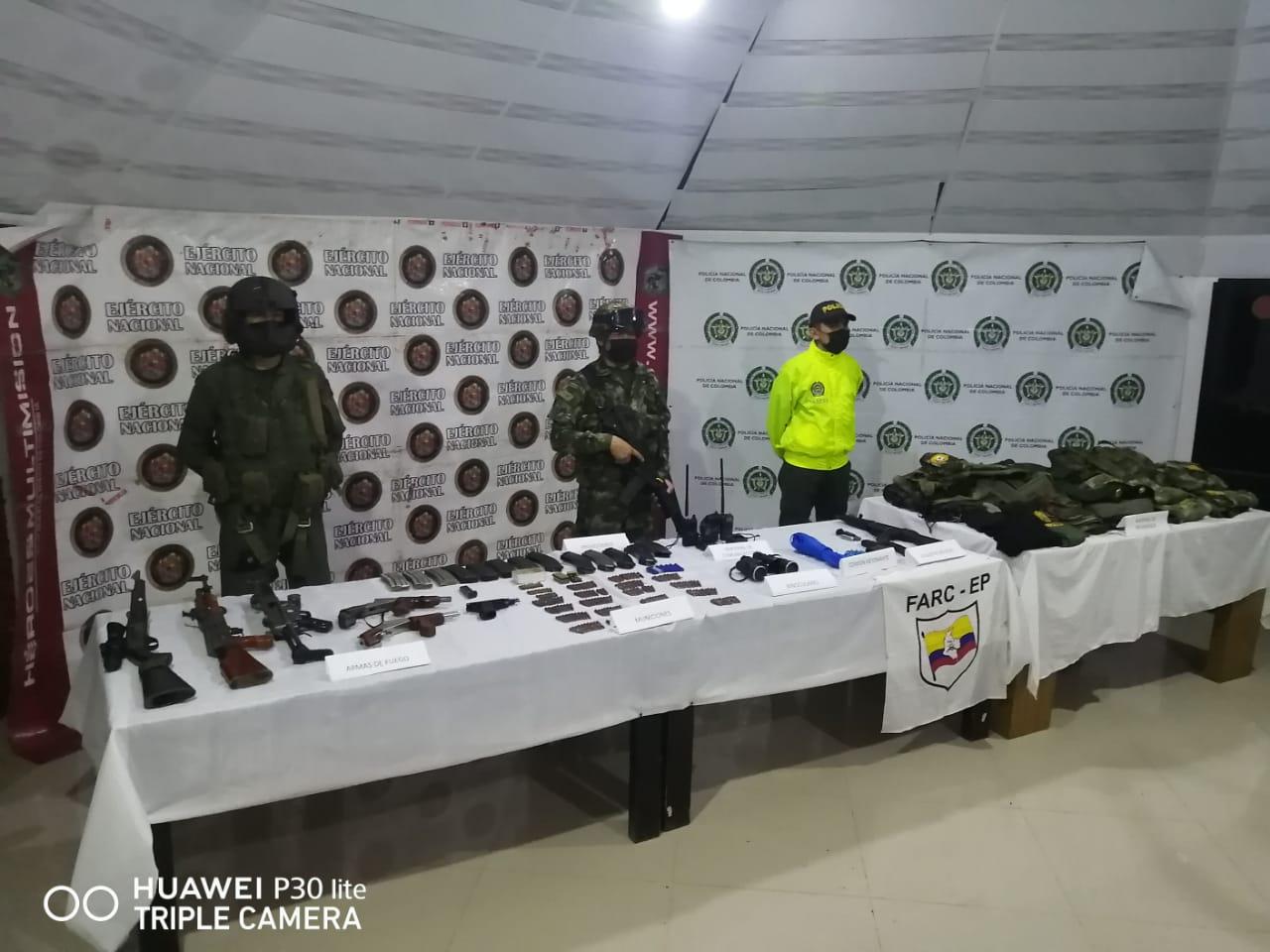 Ubicada caleta de armamento de alias 'Carlos', cabecilla del frente 'Ismael Ruiz'