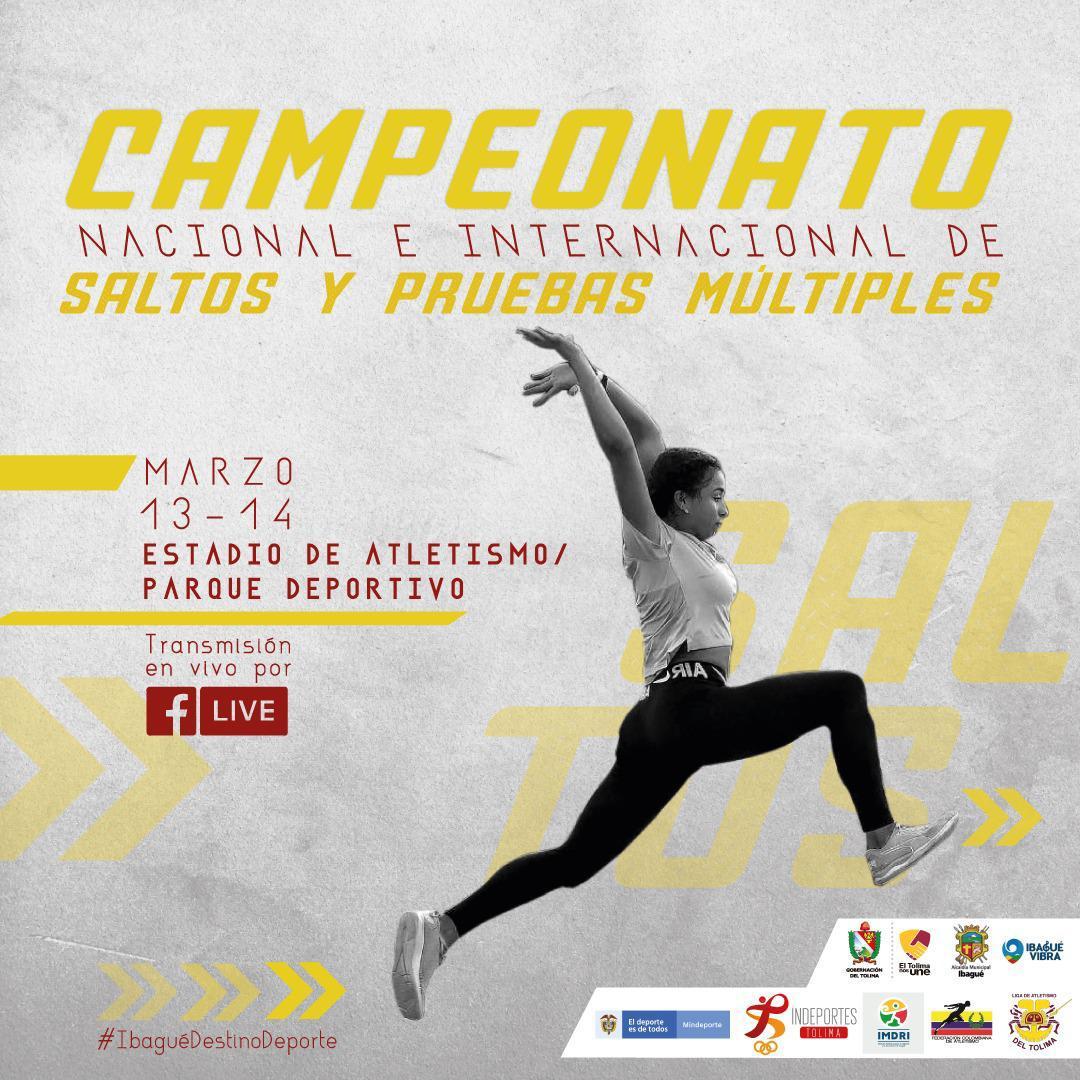 Todo listo para el nacional e internacional de saltos y pruebas múltiples de atletismo en Ibagué