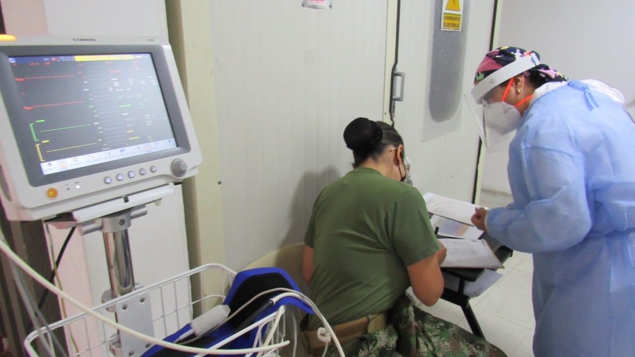 Inició la jornada de inmunización contra el Covid-19 en el Establecimiento de Sanidad Militar de Ibagué