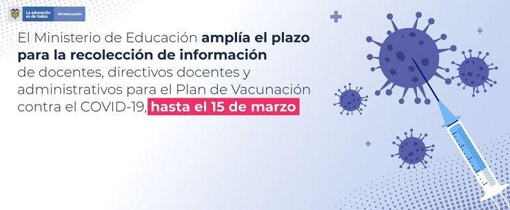 Docentes del sector privado podrán reportar hasta el 15 de marzo sus datos para vacunación contra el Covid-19