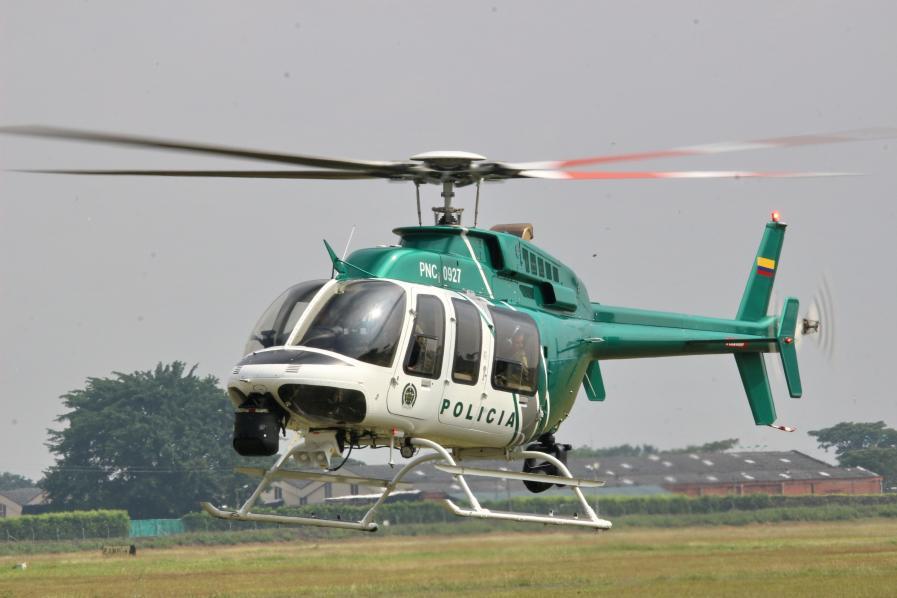 Helicóptero de la Policía sobrevuela a Ibagué