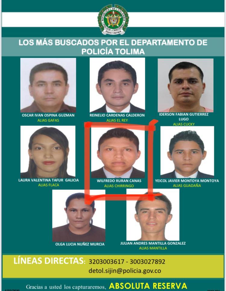 Capturaron a uno de 'los más buscados' en el Tolima