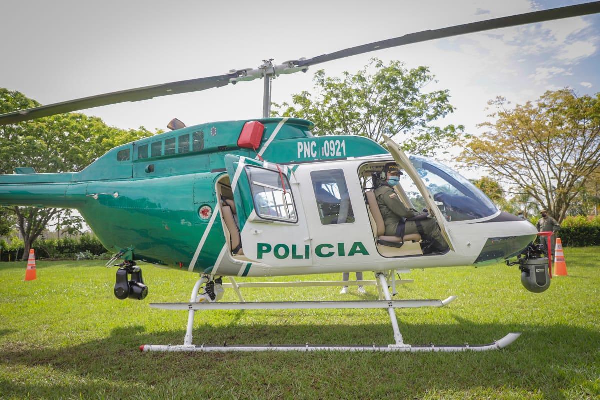 Con nuevo helicóptero, autoridades realizan operativos contra el microtráfico