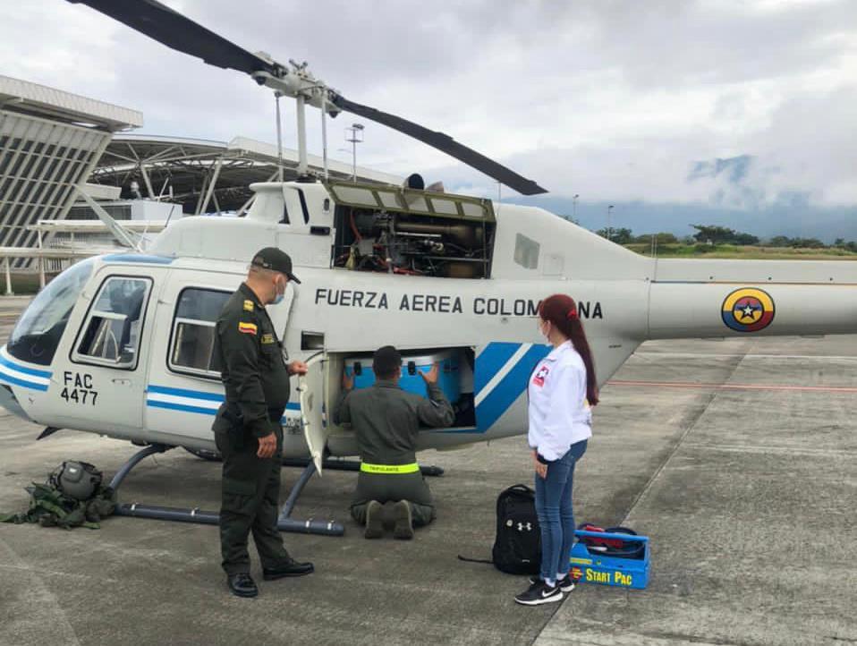Más de 5500 vacunas contra el COVID-19 han sido transportadas por la Fuerza Aérea en el Tolima