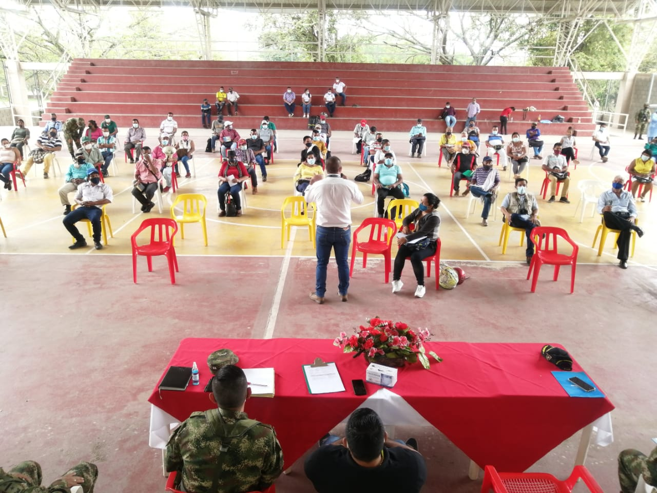 Taller de seguridad con las comunidades indígenas del municipio de Coyaima