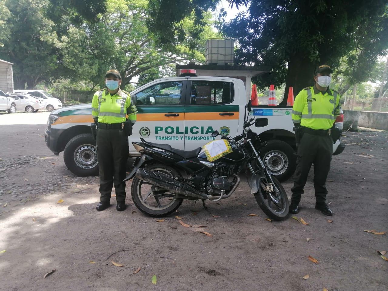 Autoridades recuperan dos motocicletas en Fresno y Armero-Guayabal