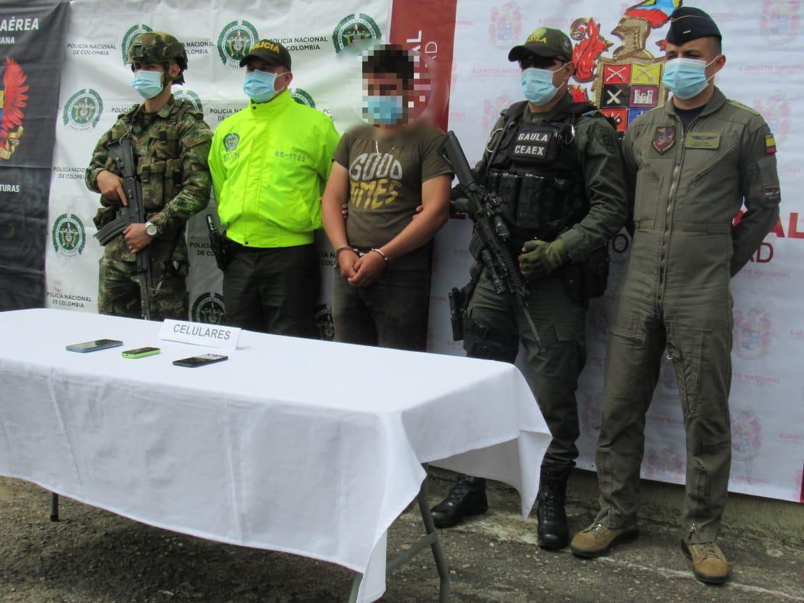 Líder de grupo armado ilegal fue capturado en zona rural de Ibagué