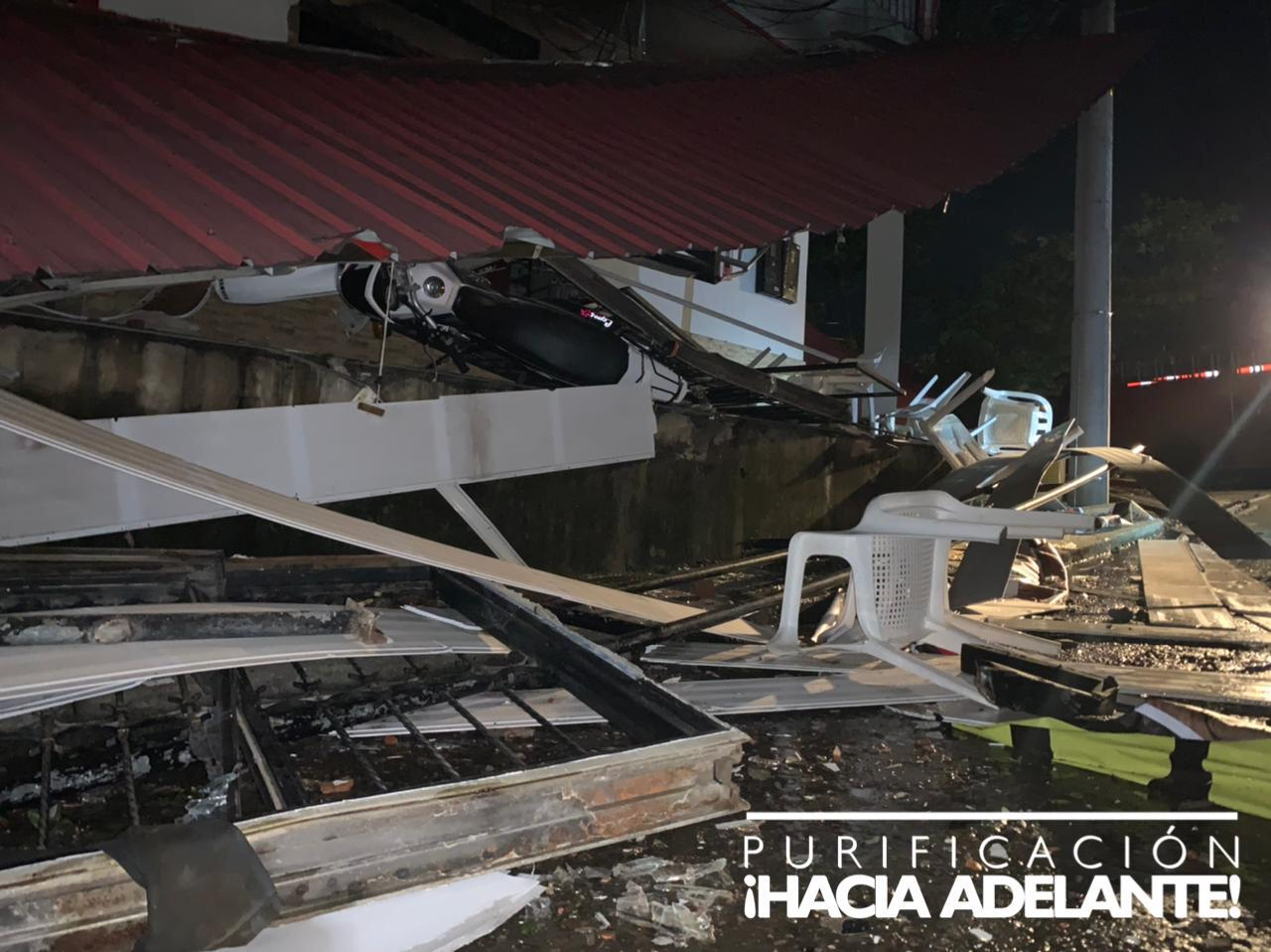Fotos y video: Explosión de asadero de Purificación dejó cuatro heridos