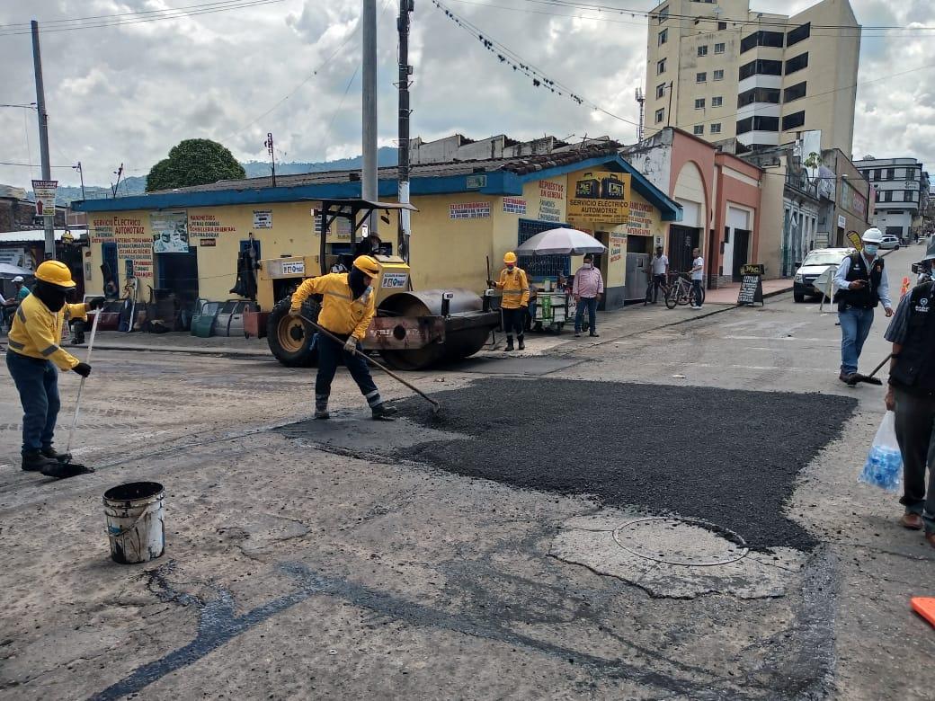 Inició la rehabilitación de calles en el centro de Ibagué