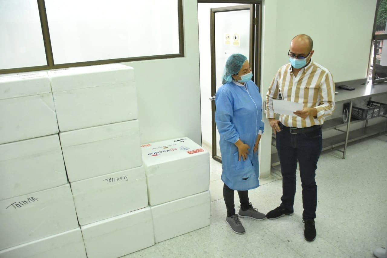 Llegaron al Tolima 17.780 dosis de Sinovac para completar esquemas de vacunación contra el Covid