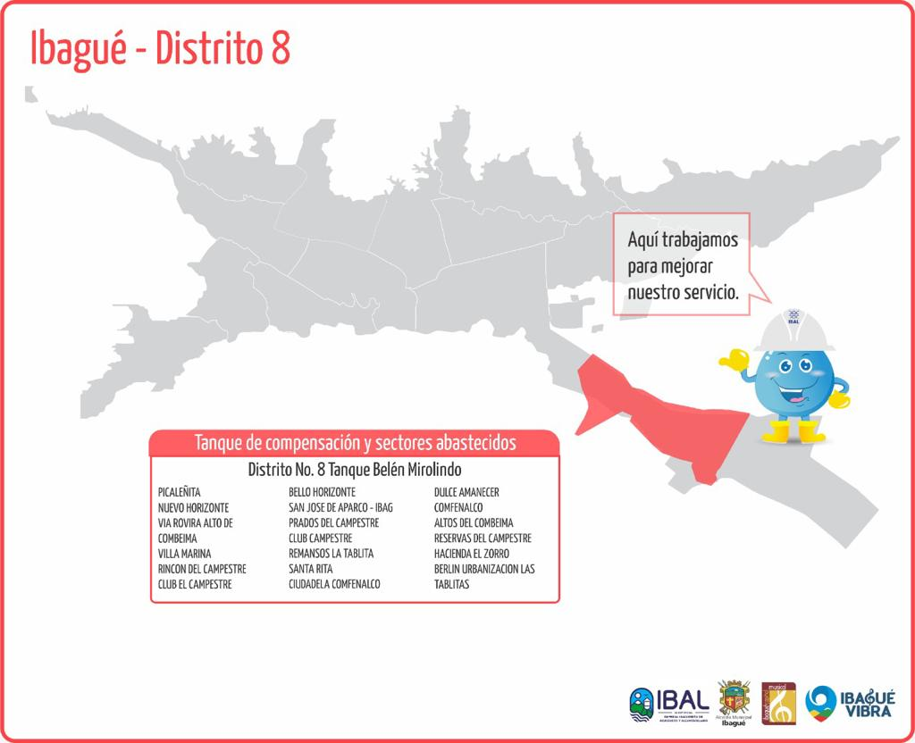 Recuerde: Cerca de 140 barrios de Ibagué no tendrán agua este miércoles