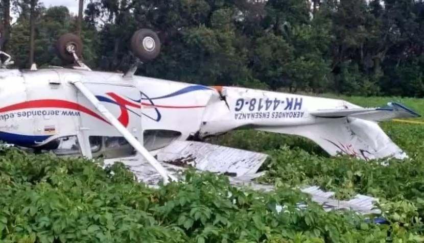 Piloto y alumno salieron ilesos luego de un aterrizaje de emergencia